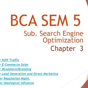 BCA SEM 5 | Search Engine Optimization Techniques | Chapter 3| Omvvim | Amit Sir