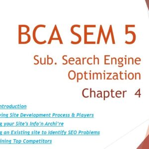 BCA SEM 5 | Search Engine Optimization Techniques | Chapter 4 | Omvvim | Amit Sir