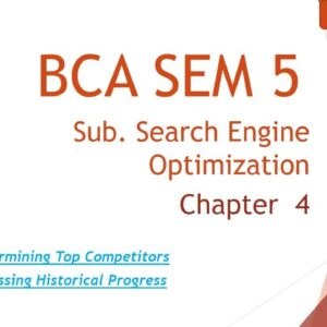BCA SEM 5 l Search Engine Optimization Techniques l Chapter 4 l Topic 5 and 6  l Lecture 8 lAmit Sir