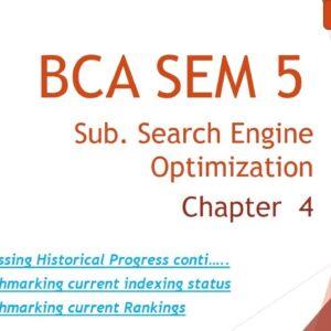 BCA SEM 5 l Search Engine Optimization Techniques l Ch 4 l Topic 6 7 and 8  l Lecture 9 l Amit Sir