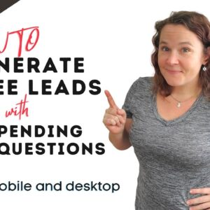 How to Generate FREE Leads Utilizing the Facebook Pending Questions | Kati Stage