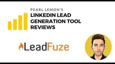 LeadFuze Review For LinkedIn Lead Generation | Pearl Lemon Official