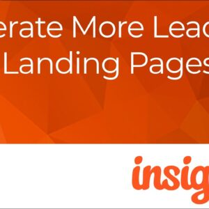 Insightly—Generate More Leads with Landing Pages