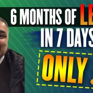 6 Months Of Leads In 7 Days For Only £1 A Lead